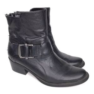 Kelly & Katie Ankle Booties Leather Boots Size 6.5